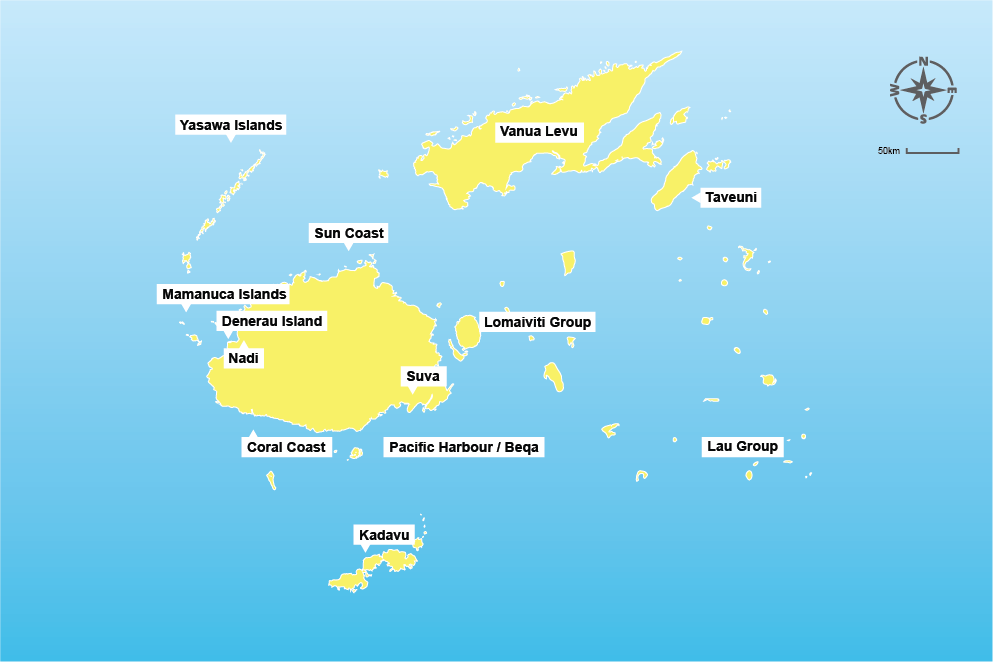 Fiji Island map travel tips